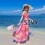 พร้อมส่ง Maxi dress สายเดี่ยวเปิดไหล่ thumbnail 4