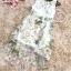 พร้อมส่ง เดรสเส้นดอกไม้สีชมพูอ่อน ใบไม้ thumbnail 4