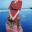 เดรสเกาหลี พร้อมส่ง เดรสผ้าซาติน ซิลพิมพ์ลาย thumbnail 4