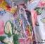 เสื้อเกาหลี พร้อมส่ง เสื้อลายดอก โทนสีม่วงอ่อน thumbnail 3