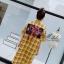เดรสเกาหลี พร้อมส่ง Dress คอปกเชิ๊ต ลายสก๊อต thumbnail 9
