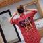 เดรสเกาหลี พร้อมส่ง Dress คอปกเชิ๊ต ลายสก๊อต thumbnail 17