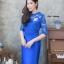 เดรสเกาหลี พร้อมส่ง Dress ลูกไม้ แขนชีฟอง thumbnail 4