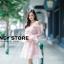 ชุดเดรสเกาหลี พร้อมส่ง ชุดเปิดไหล่ style เจ้าหญิง ฟูฟ่อง thumbnail 8