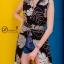 เดรสเกาหลี พร้อมส่ง Maxi Dress คอปก แขนกุด thumbnail 7