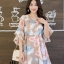 เดรสเกาหลี พร้อมส่ง Dress เดรสสั้น ลายดอก thumbnail 5