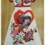 ชุดเดรสเกาหลี พร้อมส่ง เดรสยาว ลายดอกกุหลาบผสมลายหัวใจ thumbnail 8