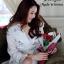 เดรสเกาหลี พร้อมส่ง เดรส เนื้อผ้าซีทรูปักด้วยดินสีทอง thumbnail 8