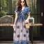 ชุดเดรสเกาหลี พร้อมส่ง Maxi dress ผ้าสปันเนื้อดีปริ้นลายสวย thumbnail 14