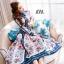 ชุดเดรสเกาหลี พร้อมส่ง เดรสยาว ผ้าsilk เนื้อผ้าปริ้นท์ลาย thumbnail 6
