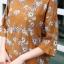 เสื้อเกาหลี พร้อมส่ง เสื้อญี่ปุ่น เนื้อนิ่มทอลายดอกวินเทจ thumbnail 6