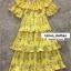 ชุดเดรสเกาหลี พร้อมส่ง Maxi Dress เปิดไหล่ thumbnail 7