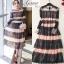 ชุดเดรสเกาหลี Maxi dress พิมพ์ลายดอก ทรงอกป้ายไขว์ thumbnail 1