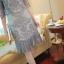 พร้อมส่ง เดรสผ้ามุ้งสีเทาแขน3ส่วน thumbnail 8