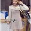 เดรสเกาหลี พร้อมส่ง มินิเดรส ผ้าลายสก็อตและผ้าชีฟอง thumbnail 8