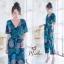 เสื้อผ้าเกาหลี พร้อมส่ง จั้มสูท ขายาว คอวีป้าย thumbnail 7