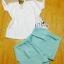 พร้อมส่ง Set เสื้อเชิ้ตผ้าค้อตต้อนตัดต่อด้วยผ้าตาข่าย thumbnail 10