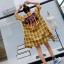 เดรสเกาหลี พร้อมส่ง Dress คอปกเชิ๊ต ลายสก๊อต thumbnail 8