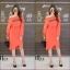 ชุดเดรสเกาหลี พร้อมส่ง Long Dress เดรสแขนยาวเปิดไหล่ thumbnail 2