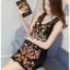เดรสเกาหลี พร้อมส่ง เดรสสีดำ ปักลายดอกไม้ thumbnail 10