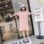 เดรสเกาหลี พร้อมส่ง เดรสแขนสั้น ผ้ายืดคอตตอน thumbnail 14
