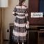 ชุดเดรสเกาหลี Maxi dress พิมพ์ลายดอก ทรงอกป้ายไขว์ thumbnail 9