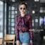 เสื้อเกาหลี พร้อมส่ง เสื้อเชิ้ต ซีฟองพิมพ์ลายจุป้าจุ๊ป thumbnail 5
