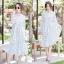 เดรสเกาหลี พร้อมส่ง Maxi dress คอจีน thumbnail 1