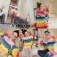เสื้อเกาหลี พร้อมส่ง เสื้อไหมพรม สลับสีสดใสเป็นเรนโบว์ thumbnail 4