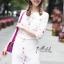 เดรสเกาหลี พร้อมส่ง Dress คอกลม แขน5ส่วน thumbnail 5