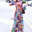 เดรสเกาหลี พร้อมส่ง แม็กซี่เดรส สีสันสด พิมพ์ลาย thumbnail 1