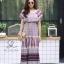 ชุดเดรสเกาหลี พร้อมส่ง Dress ปร้ินลายเชิง แต่งระบายรอบตัว thumbnail 9