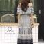 ชุดเดรสเกาหลี พร้อมส่ง Dress ปร้ินลายเชิง แต่งระบายรอบตัว thumbnail 6