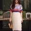 เดรสเกาหลี พร้อมส่ง Maxi Dress ผ้าสปัน นิ่มพริ้ว thumbnail 11
