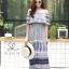 ชุดเดรสเกาหลี พร้อมส่ง Dress ปร้ินลายเชิง แต่งระบายรอบตัว thumbnail 13