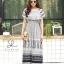 ชุดเดรสเกาหลี พร้อมส่ง Dress ปร้ินลายเชิง แต่งระบายรอบตัว thumbnail 4