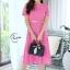 เดรสเกาหลี พร้อมส่ง Maxi dress ด้านหลังเป็นโบว์ thumbnail 2
