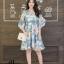 เดรสเกาหลี พร้อมส่ง Dress เดรสสั้น ลายดอก thumbnail 9