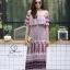 ชุดเดรสเกาหลี พร้อมส่ง Dress ปร้ินลายเชิง แต่งระบายรอบตัว thumbnail 8