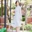 เดรสเกาหลี พร้อมส่ง Maxi dress คอจีน thumbnail 10