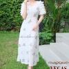 ชุดเดรสเกาหลี พร้อมส่ง Princess Dress ผ้าปักน้องผึ้ง