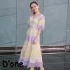 ชุดเดรสเกาหลี พร้อมส่ง Dress แขนสั้น คอวี