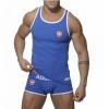 เสื้อกล้าม SLIM FIT : สีฟ้า