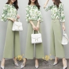 เสื้อผ้าเกาหลี พร้อมส่ง ชุดเซท เสื้อ+กางเกง ผ้านิ่ม