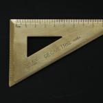 ไม้ฉากสามเหลี่ยม 6x10 cm ทองเหลือง