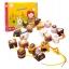 ของเล่นร้อยเชือก บล็อกไม้ร้อยเชือกขนมหวาน chocolate thumbnail 1