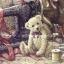 กระดาษสาพิมพ์ลาย rice paper เป้น กระดาษสา สำหรับทำงาน เดคูพาจ Decoupage แนวภาพ หมี เท็ดดี้ แบร์ Teddy Bear ขนยาว สีอ่อน นั่งหน้าจักา น่ารัก (ปลาดาว ดีไซน์) thumbnail 1