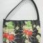 กระเป๋าถือผักตบชวาทรงแบนเล็ก ลาย wild cherry แบบเข้มๆ thumbnail 1