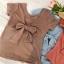 เสื้อยืดผ้านิ่มผูกโบว์ สามารถใส่ได้ทั้ง 2ด้าน จะใส่เป็นคอกลม หรือคอวี ก็ได้ มี 4 สีคือ กากี ส้ม ขาว และฟ้าค่ะ thumbnail 4