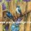 กระดาษอาร์ตพิมพ์ลาย สำหรับทำงาน เดคูพาจ Decoupage แนวภาำพ นกน้อยสีน้ำเงิน 2 ตัว มาสร้างรังกันบนรั้วไม้ สีคลาสสิคสวยหวาน (ปลาดาวดีไซน์) thumbnail 1